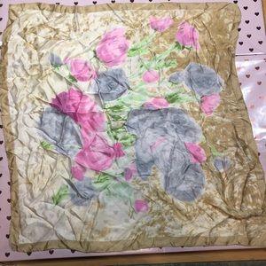 Accessories - Floral Silk Scarve